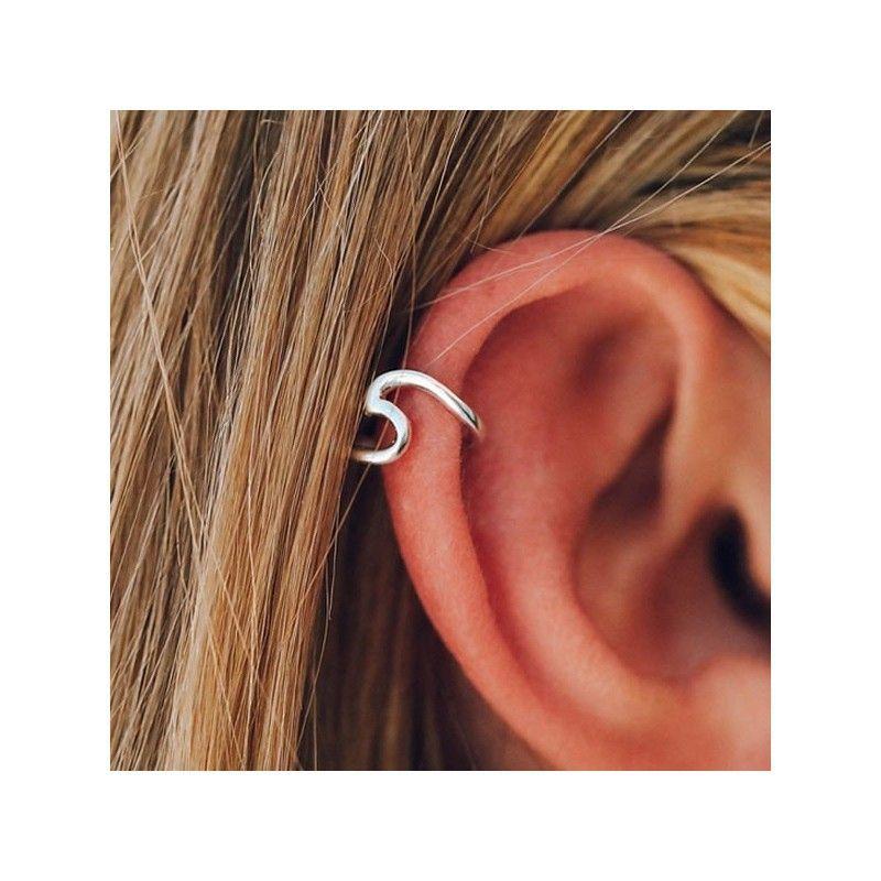 Ear Cuff Ola Plata