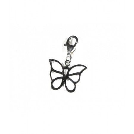 Charm mariposa de plata de www.puravidapulseras.com
