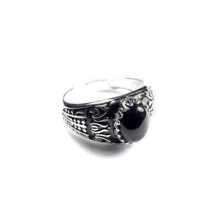 anillo sello de hombre con piedra onix de www.puravidapulseras.com