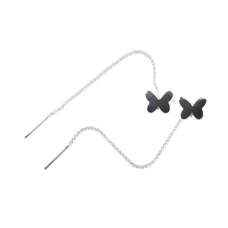 Pendientes de cadena con mariposa de www.puravidapulseras.com