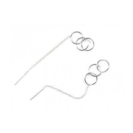 pendientes de cadena con aros entrelazados de www.puravidapulseras.com