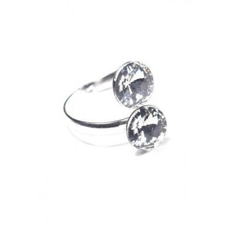 anillo dos circonitas de www.puravidapulseras.com
