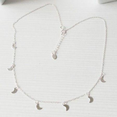 Collar Mini Moons Plata Lunitas