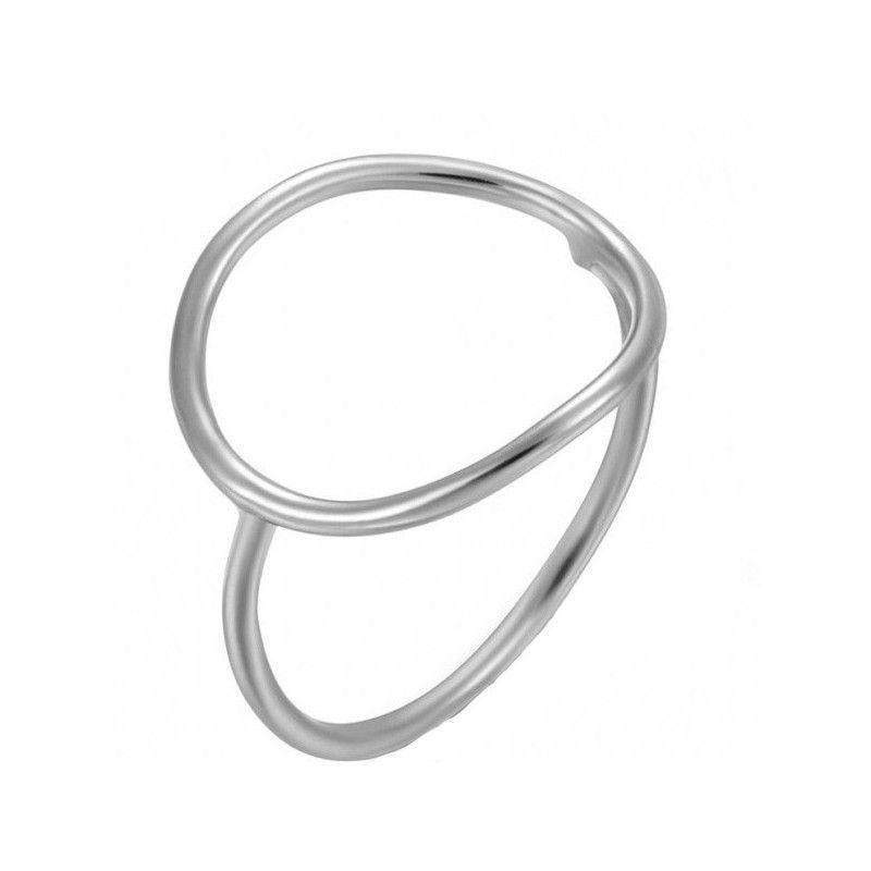 Anillo de plata con forma de circulo de www.puravidapulseras.com