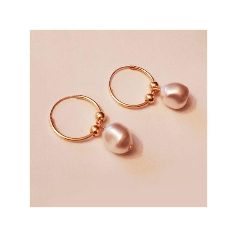 Aros Odette con Perlas