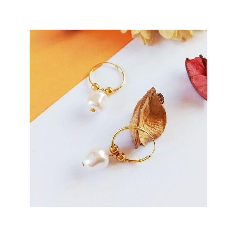 Aros Oro y Perlas