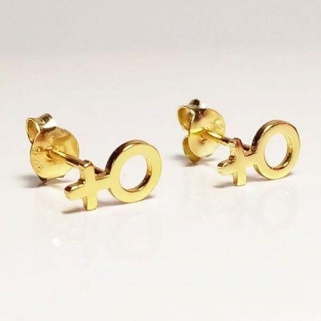 Pendientes Oro Simblo Venus