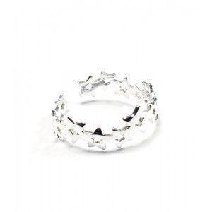 anillo de estrellas en plata de ley de www.puravidapulseras.com