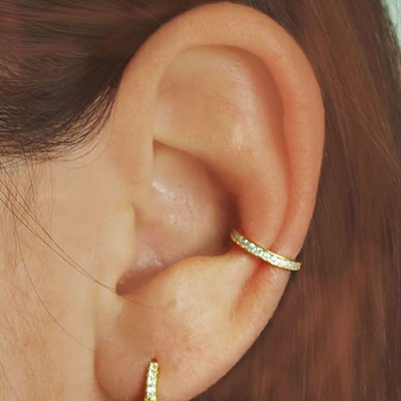 Pendientes Ear Cuff con circonitas
