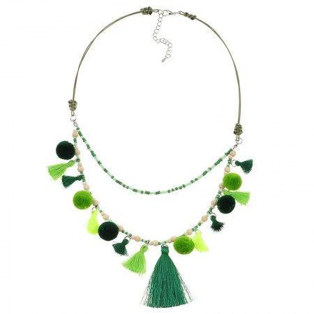 Collar Aruba Verde Boho Chic