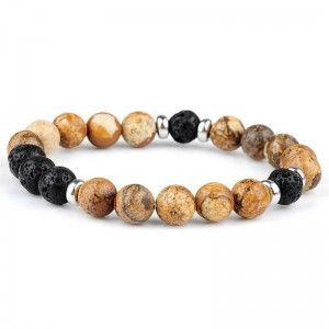 Pulsera ARROW Picture Jasper y Lava