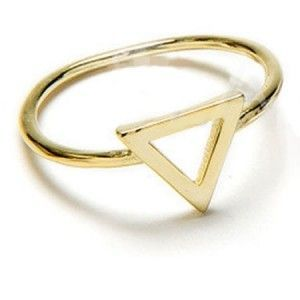 Anillo Triangulo plata oro Gold Ring