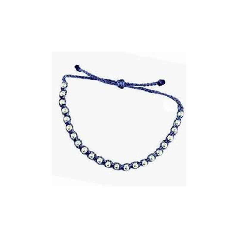 Pulsera de Hilos Santorini Blue Silver