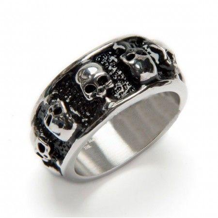 anillo calaveras de acero inoxidable de www.puravidapulseras.com