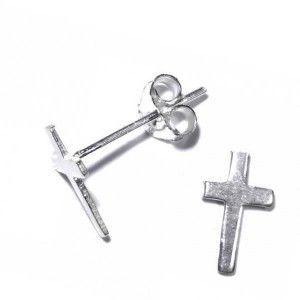 Pendientes de cruz para hombre