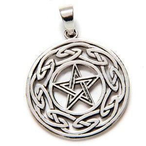 Colgante estrella de david plata