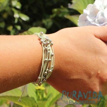 Pulsera de Hilos Costa Azul Light Green