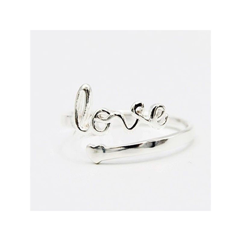 Anillo love plata ajustable