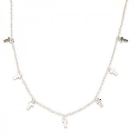 Collar cruces plata