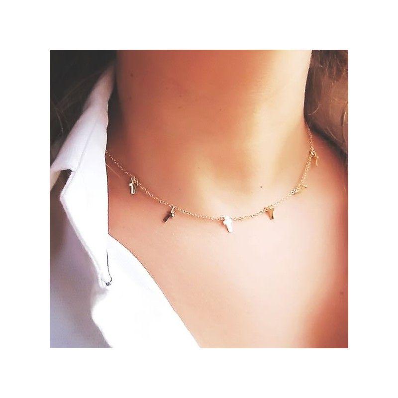Collar Cruces Oro