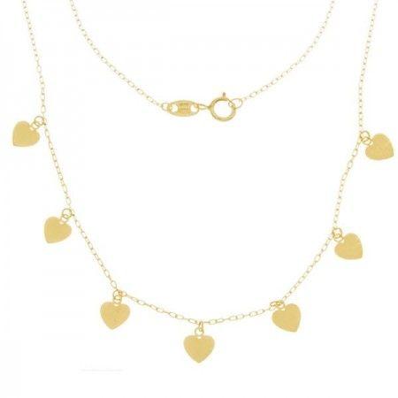 Collar 7 corazones oro  ❤️ Kokoro ❤️