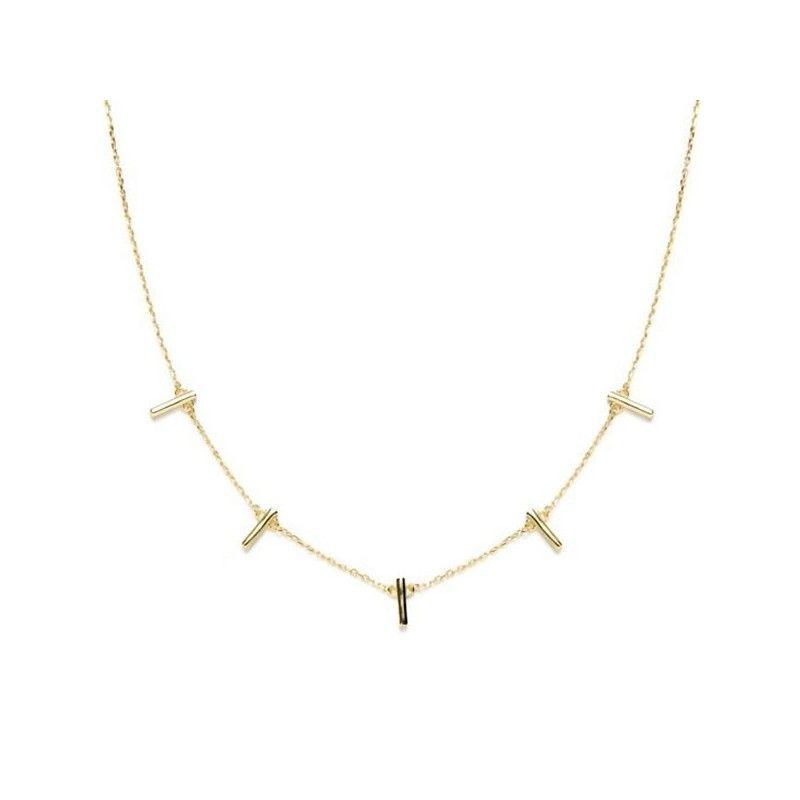Collar Kyashar  con barritas de oro