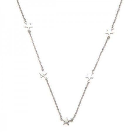 4bd4864246eb Collar Zaniah con estrellas de plata