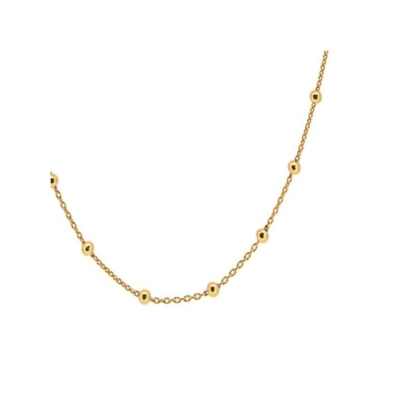 Collar TODAI con bolitas de Oro