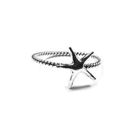 anillo estrella de mar de plata de ley de www.puravidapulseras.com