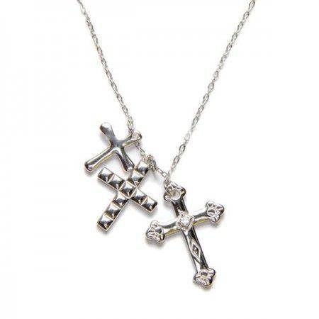 Gargantilla tres cruces plata