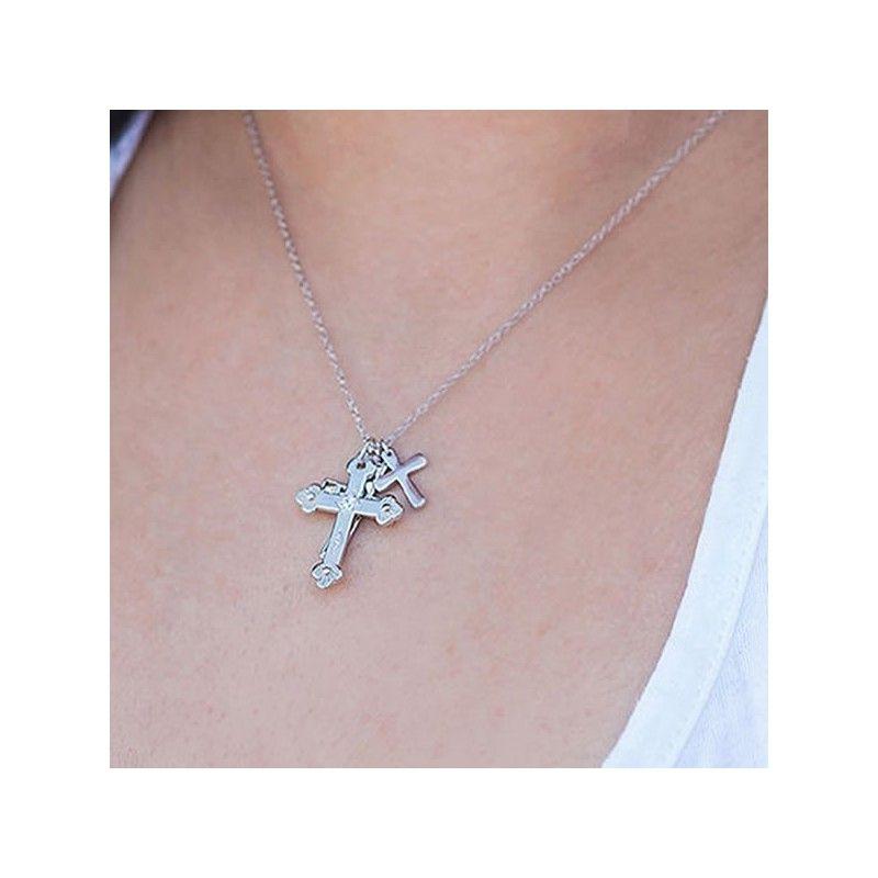 Gargantilla Tres cruces de plata