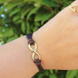 Pulsera Infinito Brown Gold