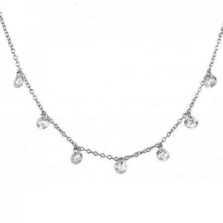 Collar de plata con circonitas blancas