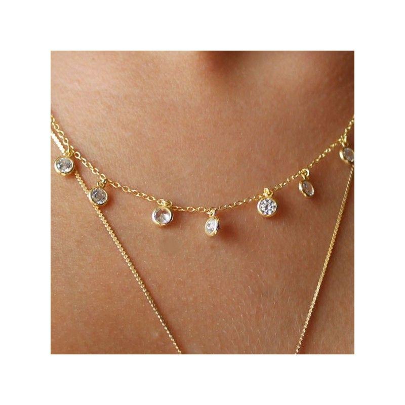 Collar Circonitas Oro