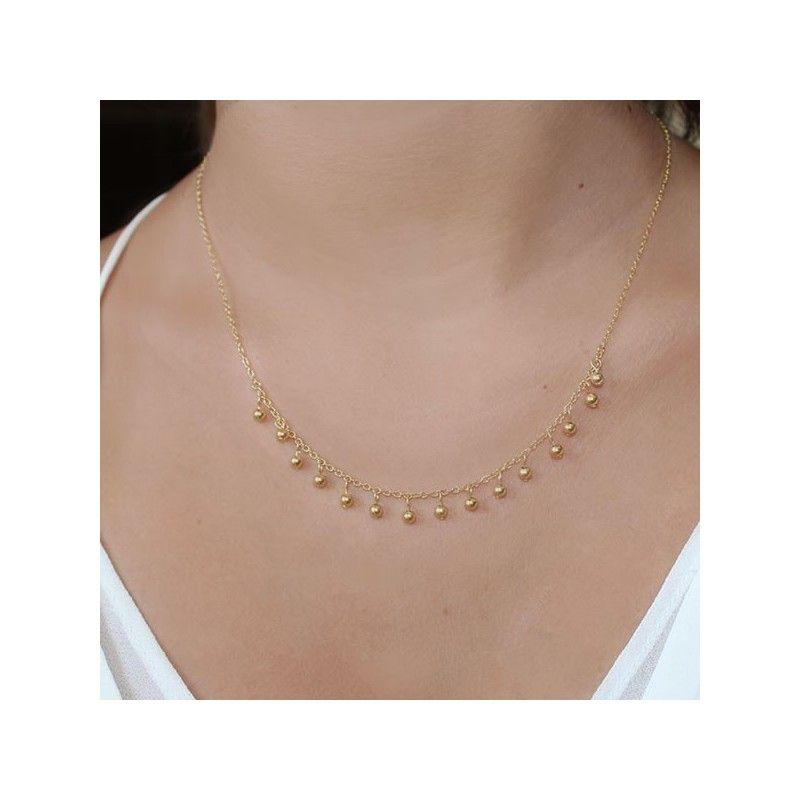 Collar Gaudi Bolitas Oro